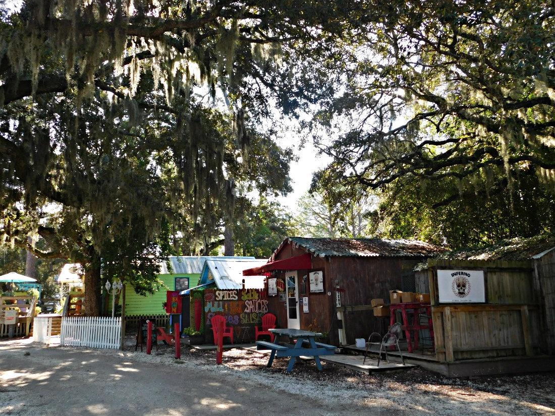 Indie stores on Tybee Island in Georgia