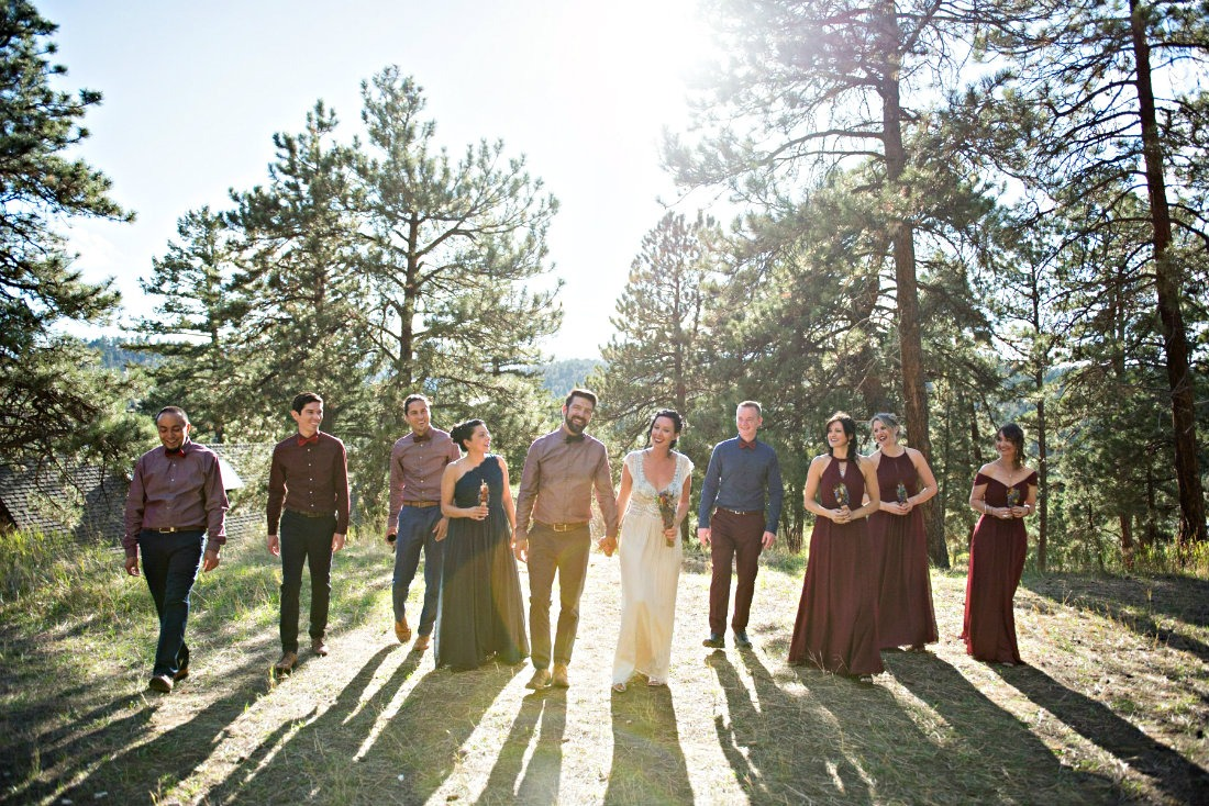Our wedding day at Chief Hosa Lodge in Colorado