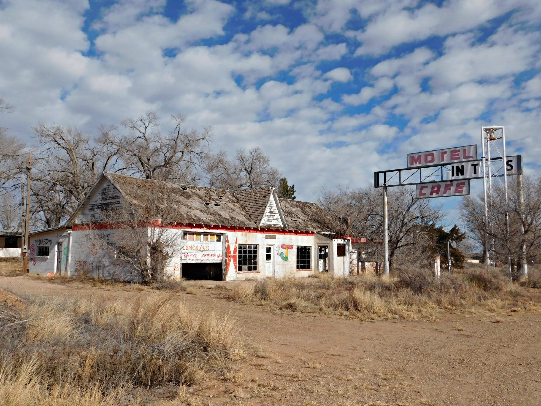 Abandoned motel on Route 66 in Texas