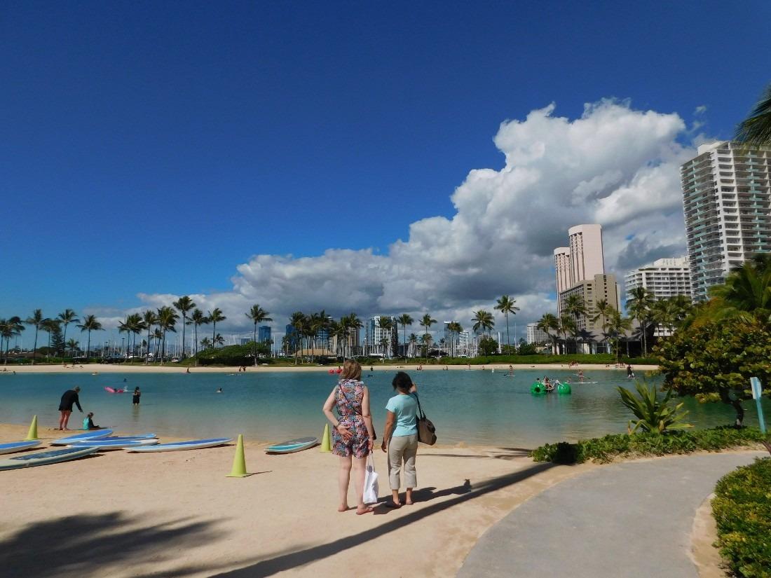 Lagoon at Hilton Hawaiian Village in Waikiki
