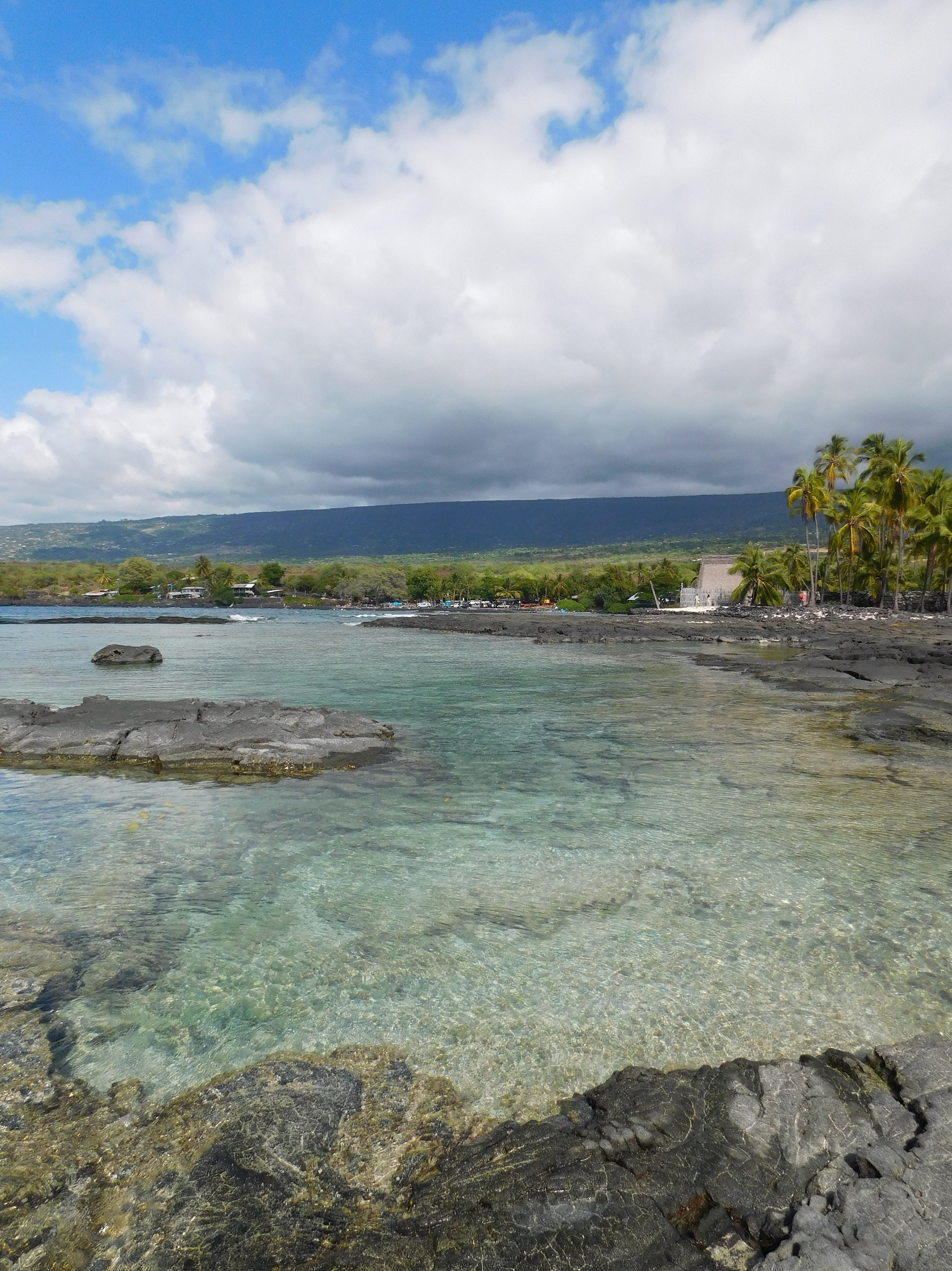 Rock pools at Puʻuhonua o Hōnaunau National Historical Park on the Big Island of Hawaii