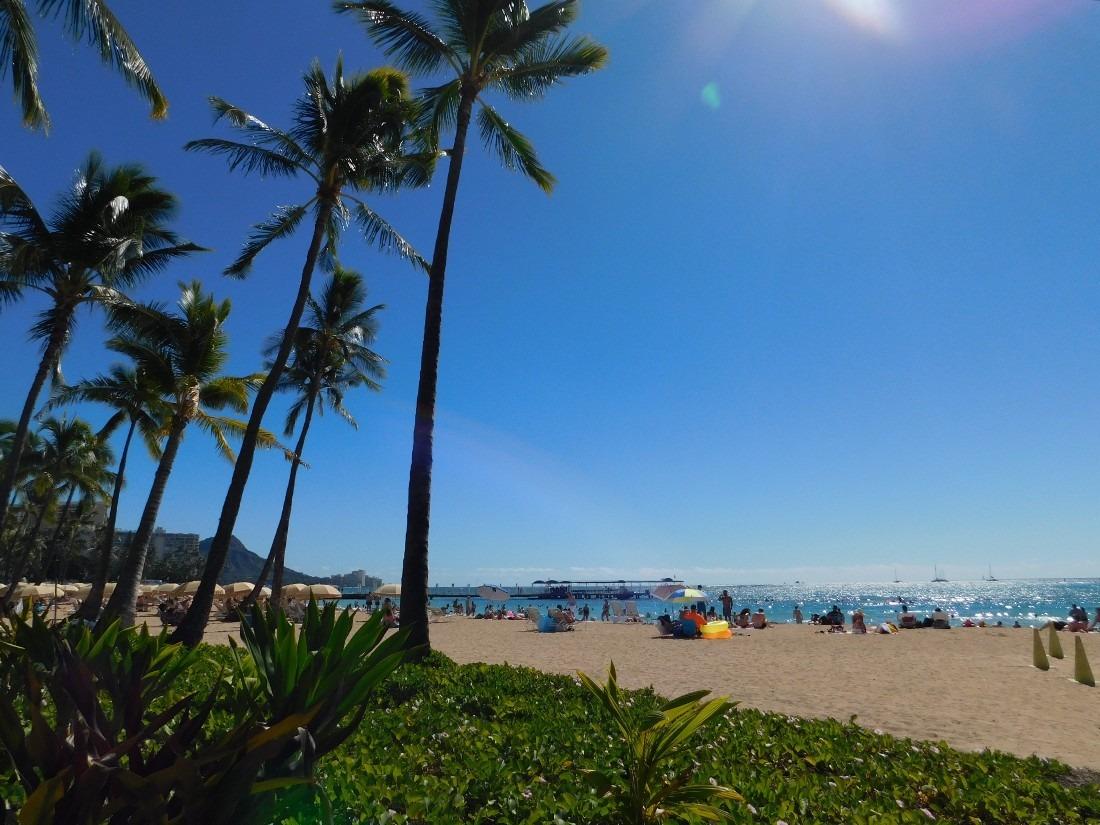Waikiki Beach in Oahu, Hawaii
