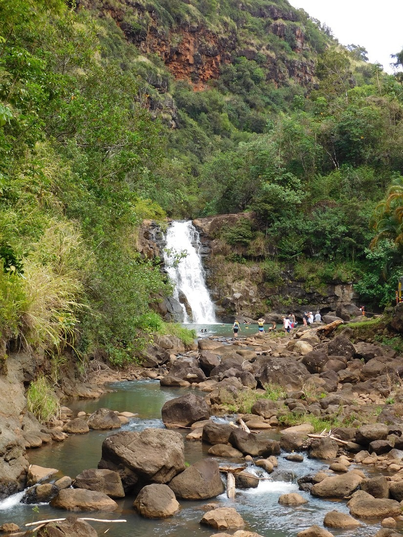 Waimea Falls in Waimea Valley on the North Shore of Oahu