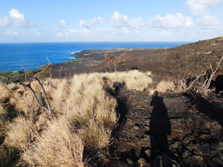 Hiking the Captain Cook Monument trail in Hawaii
