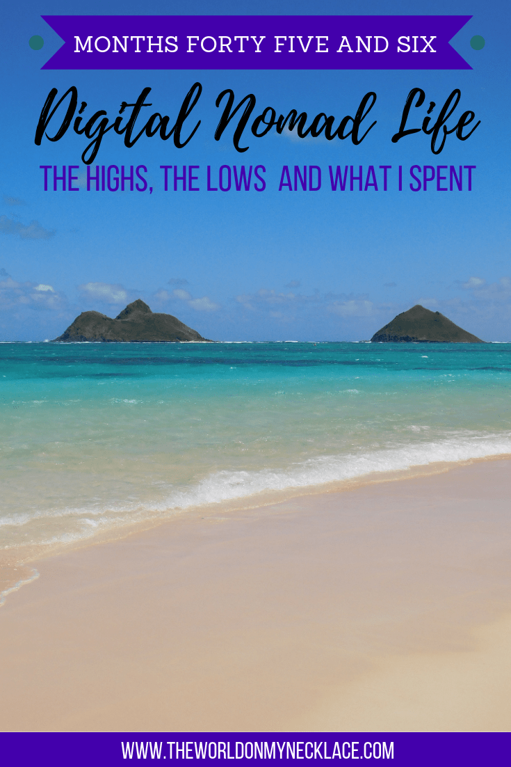 Digital Nomad Life: Month Forty Five and Month Forty Six