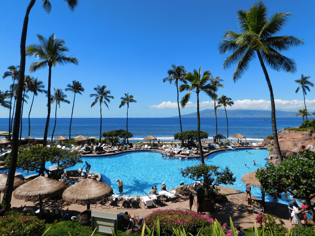 Pool time in Kaanapali, Maui