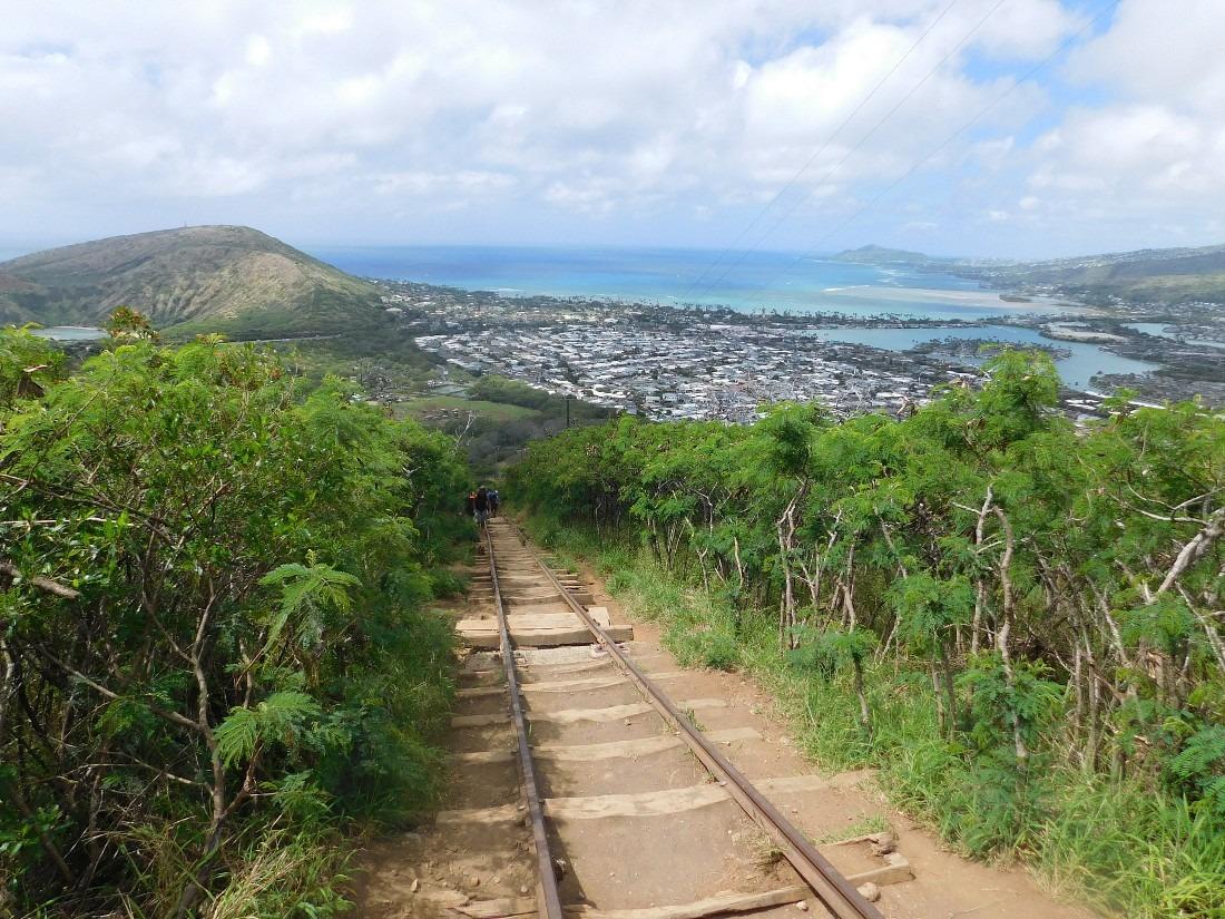 Koko Head Rail trail on Oahu