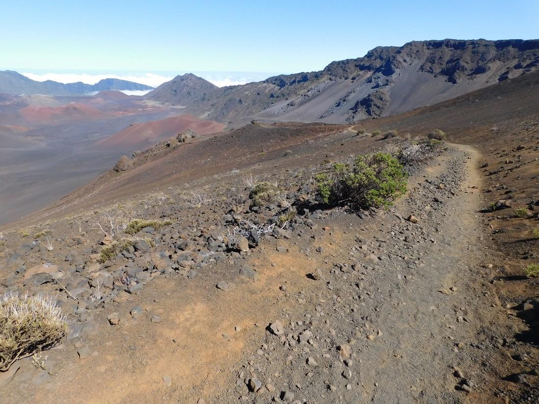 Hiking in Haleakala National Park on Maui