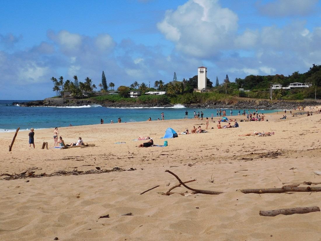 Waimea Bay on the North Shore of Oahu