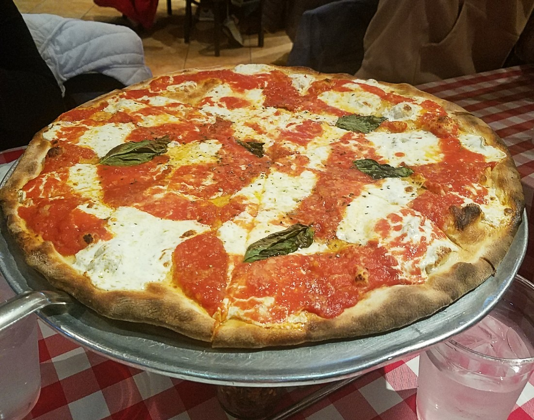 Pizza from Grimaldi's in Brooklyn