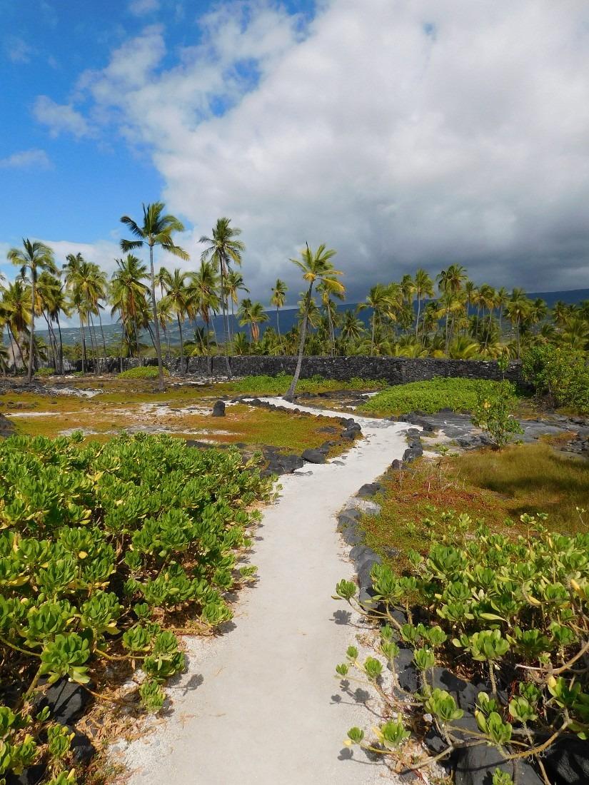 Pu'uhonua o Honaunau National Historical Park in South Kona, Hawaii