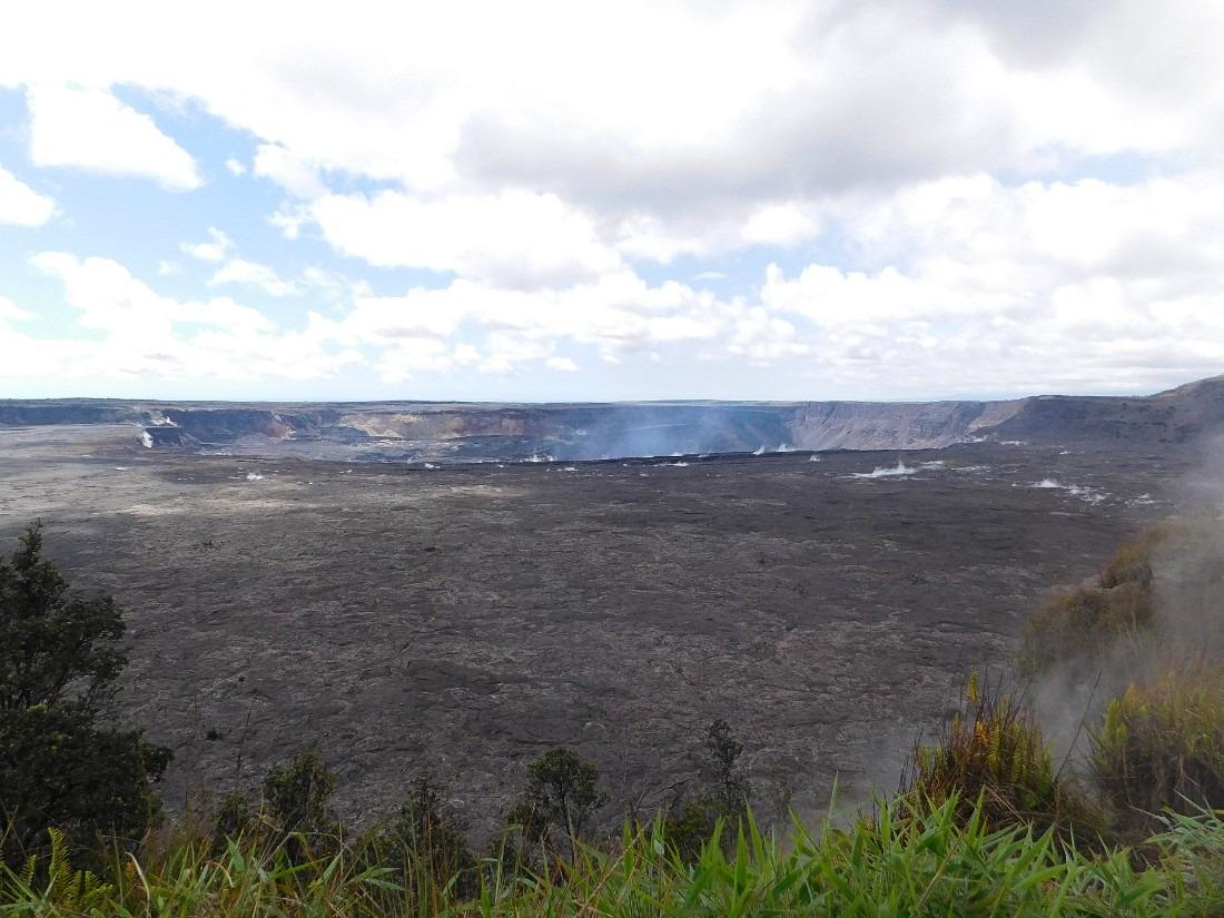 Kilauea Caldera in Hawaii Volcanoes National Park