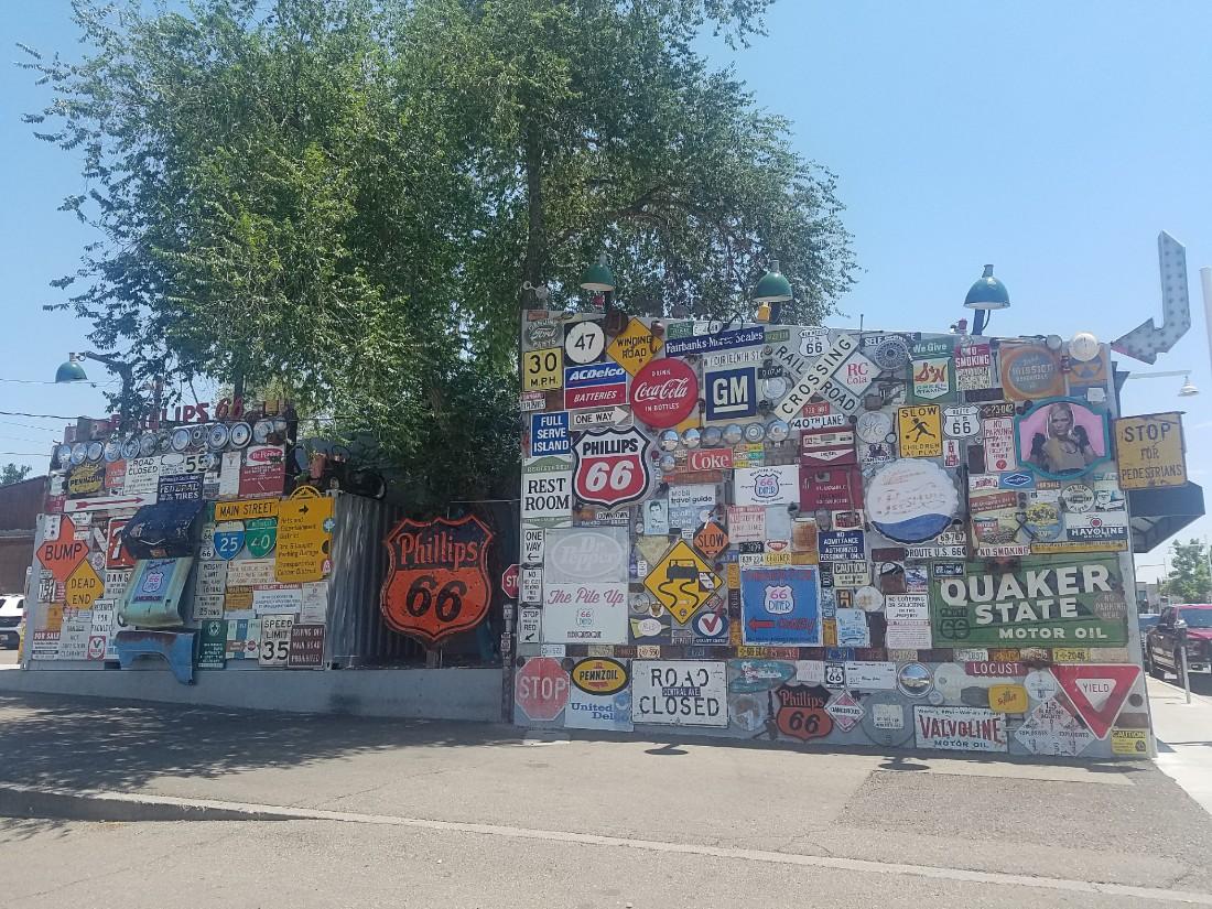 Route 66 memorabilia in Albuquerque