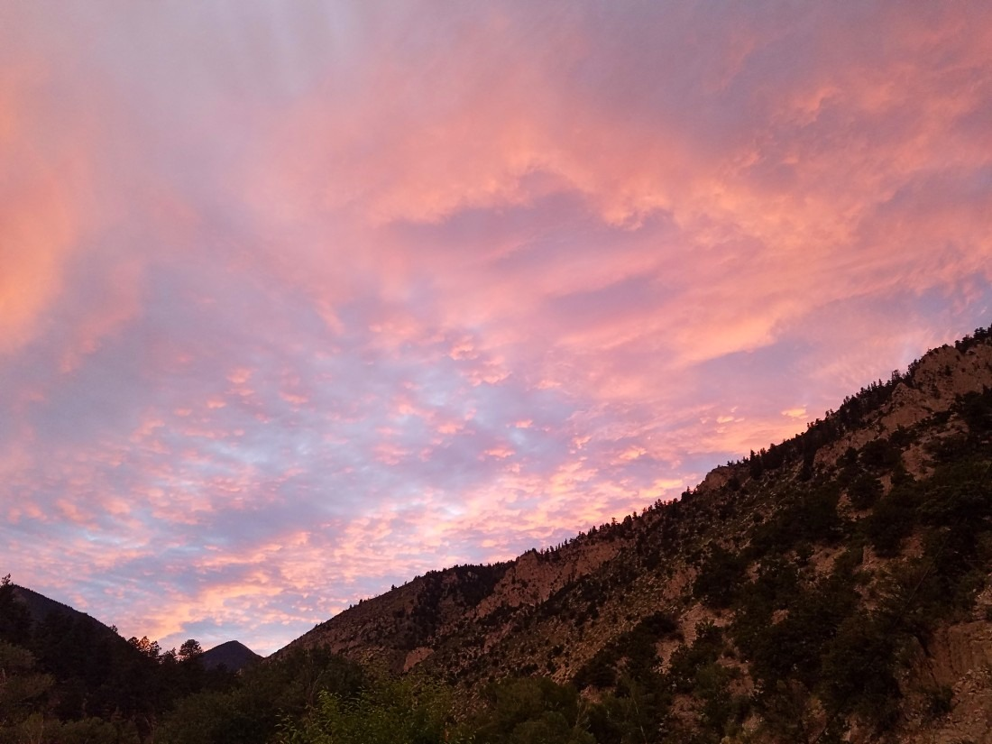 Sunset in Buena Vista, Colorado