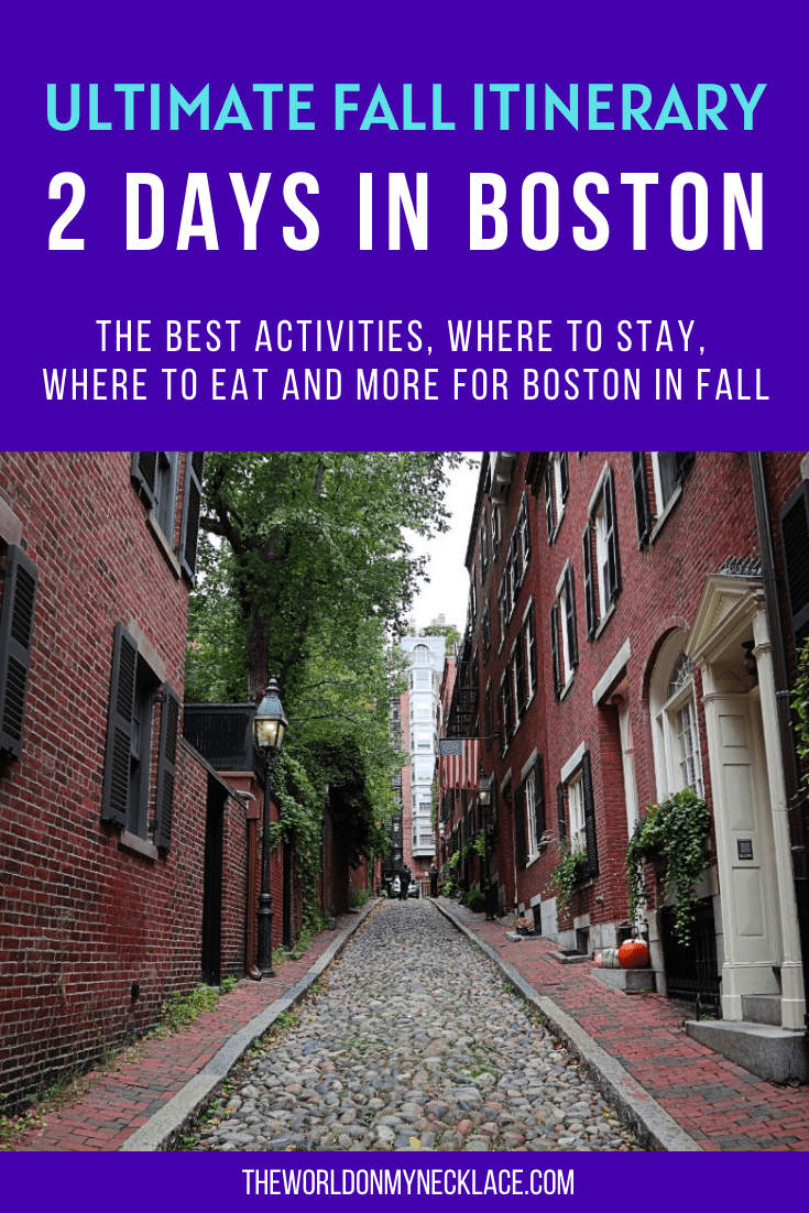 Ultimate Fall Itinerary for 2 Days in Boston