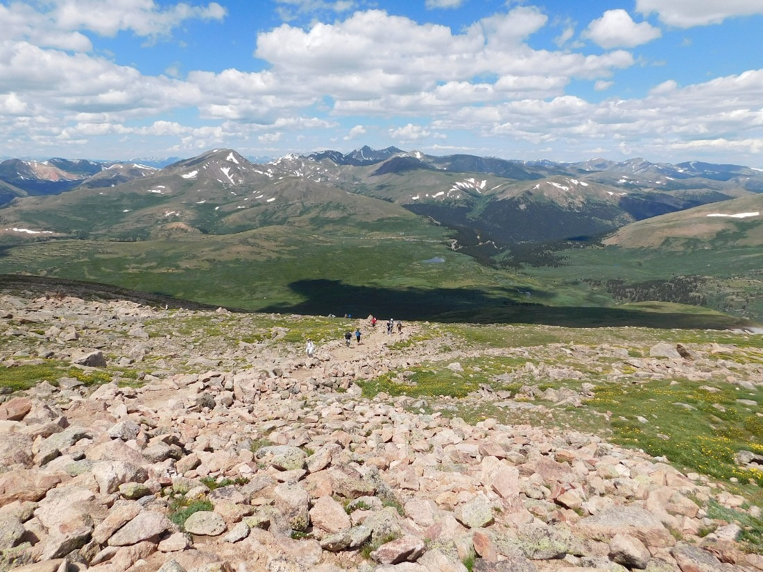Hiking Mount Bierstadt in Colorado