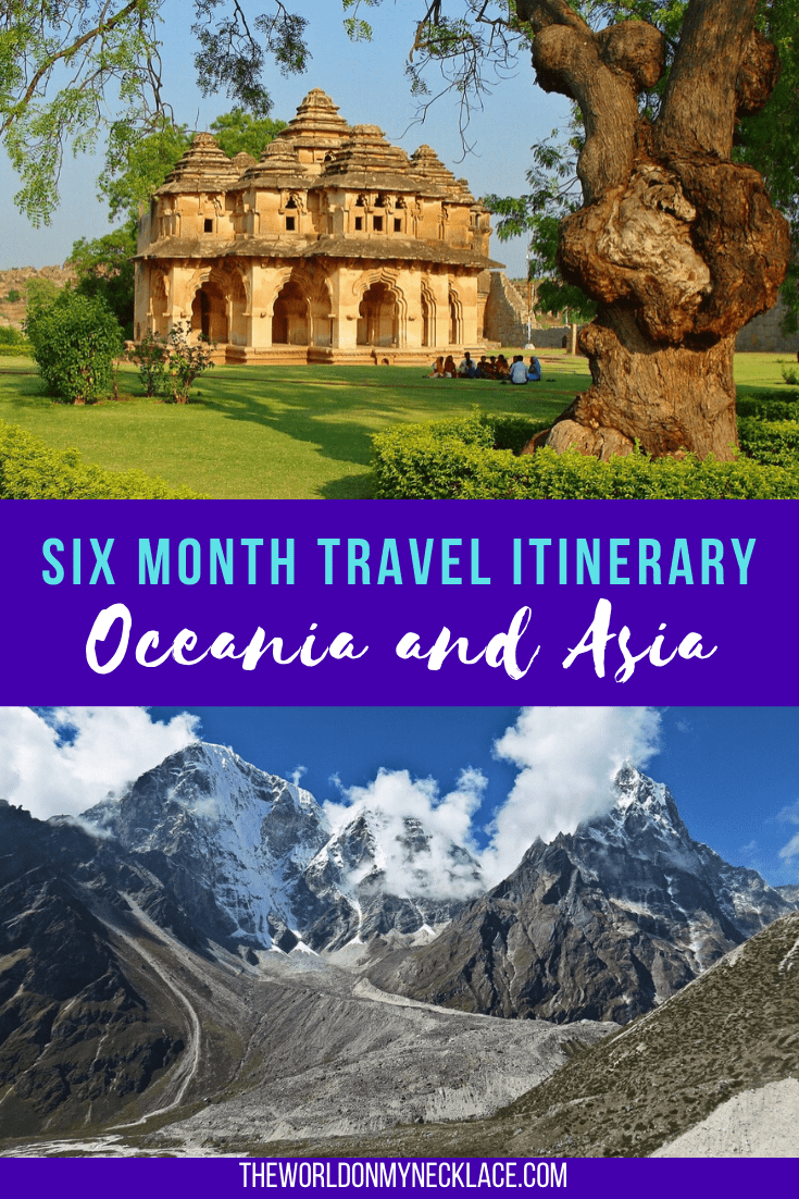6 Month Travel Itinerary for Oceania and Asia