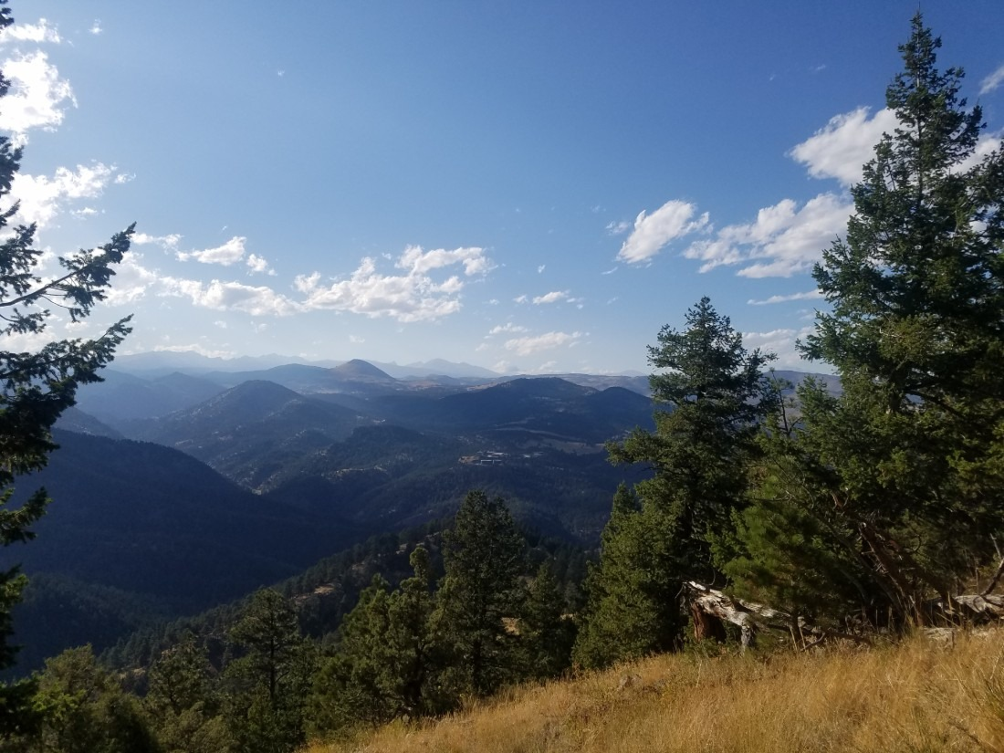 View from Gregory Canyon trail in Boulder