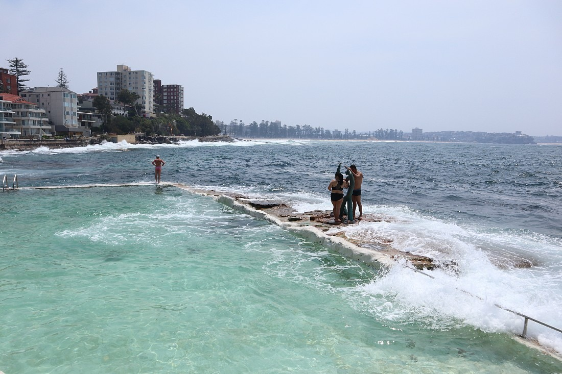 Manly ocean pool in Sydney
