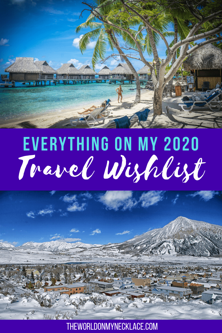 Travel Wishlist for 2020