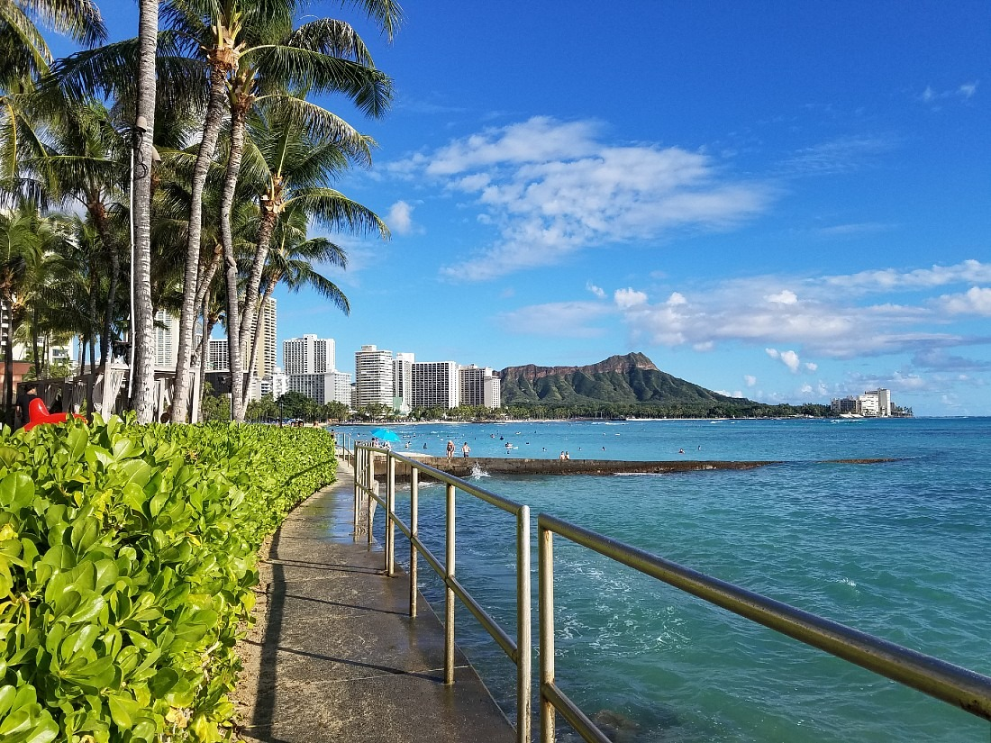 View of Diamond Head in Waikiki