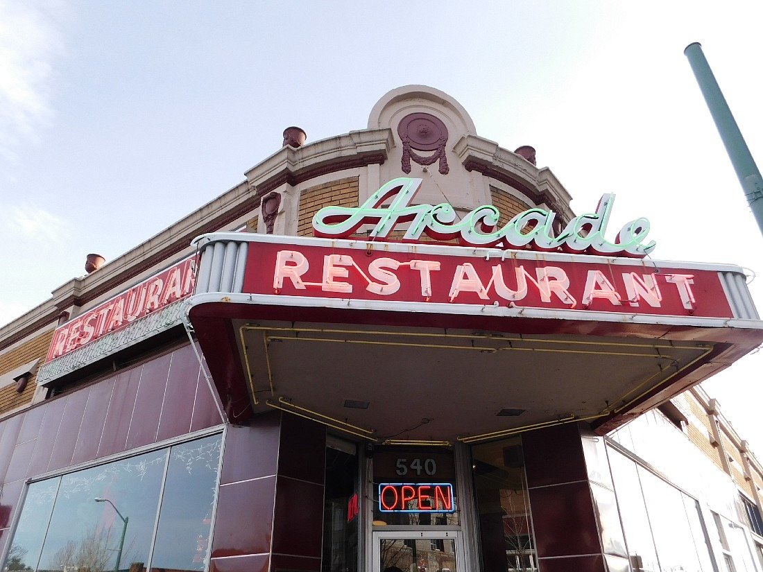 Dining at the Arcade Restaurant, the oldest cafe in Memphis