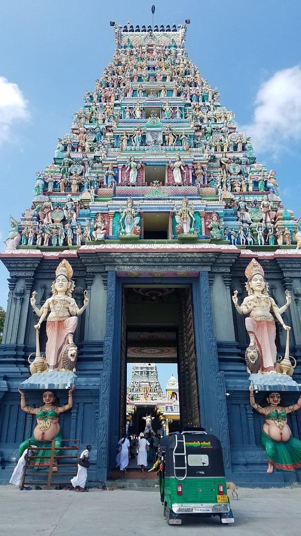Hindu Temple on Nainativu Island in northern Sri Lanka