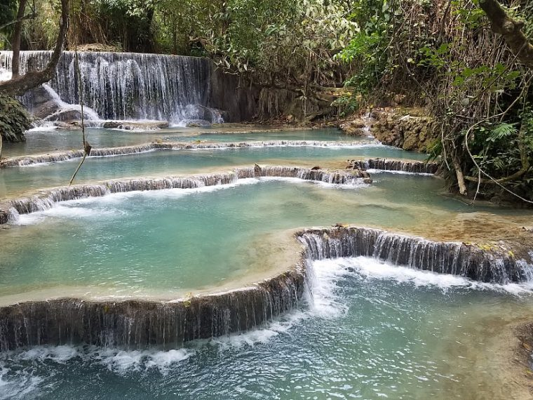 Eco travel tour to Kuang Si Falls in Laos