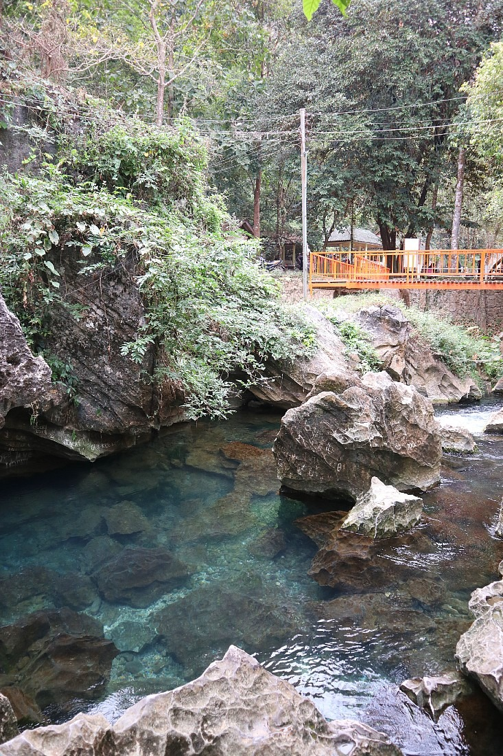 Secret Blue Lagoon in Vang Vieng, Laos