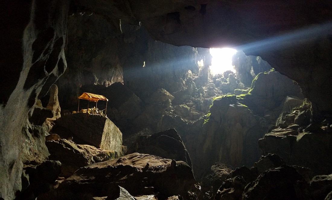 Caving in Vang Vieng, Laos