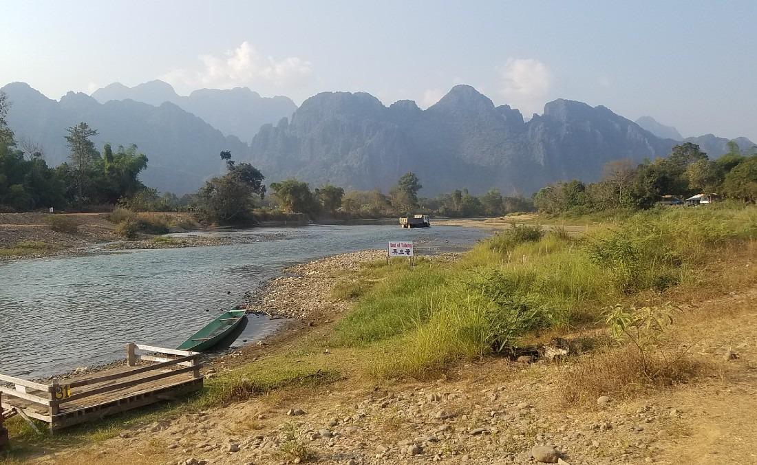 Beautiful scenery in Vang Vieng, Laos