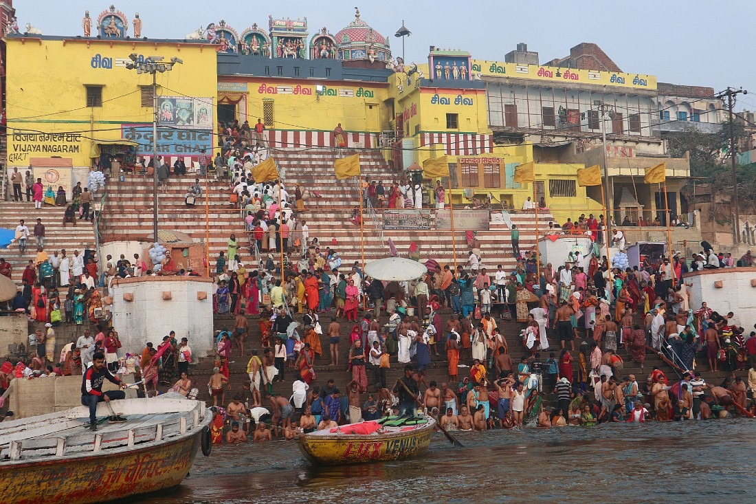 Crowds in Varanasi