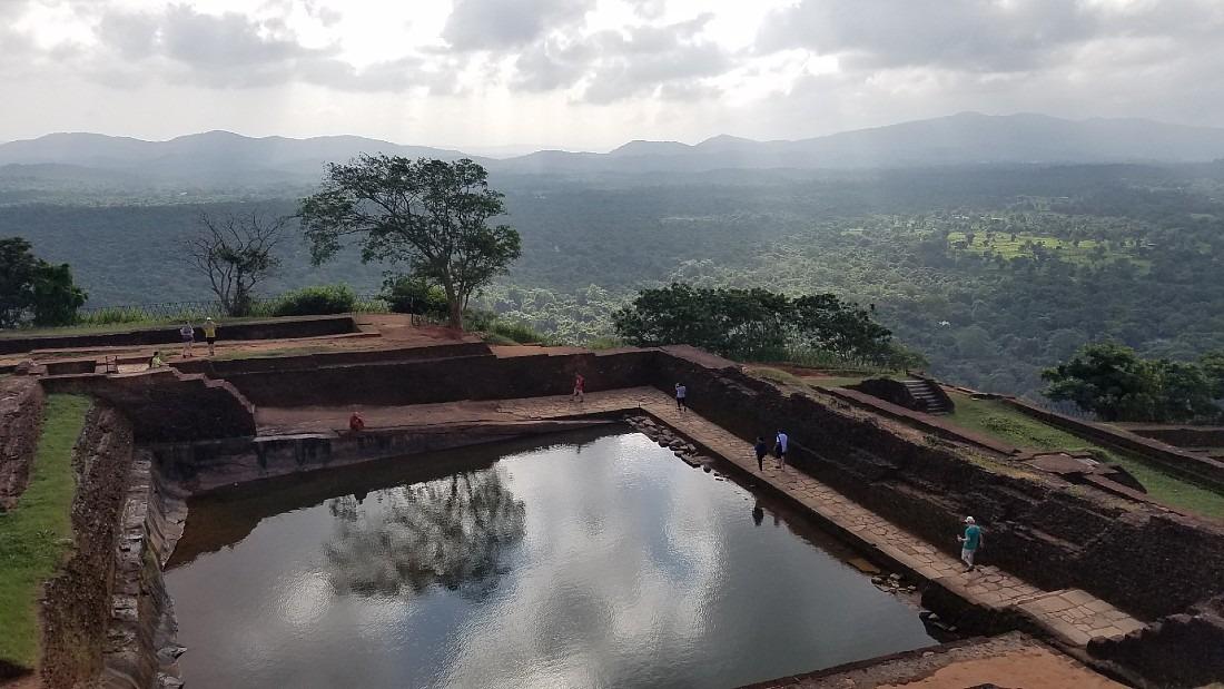 Top of Sigiriya in Sri Lanka