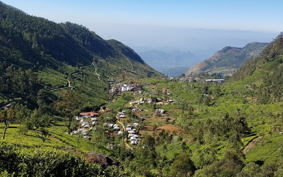 View over Dambethenna in Sri Lanka