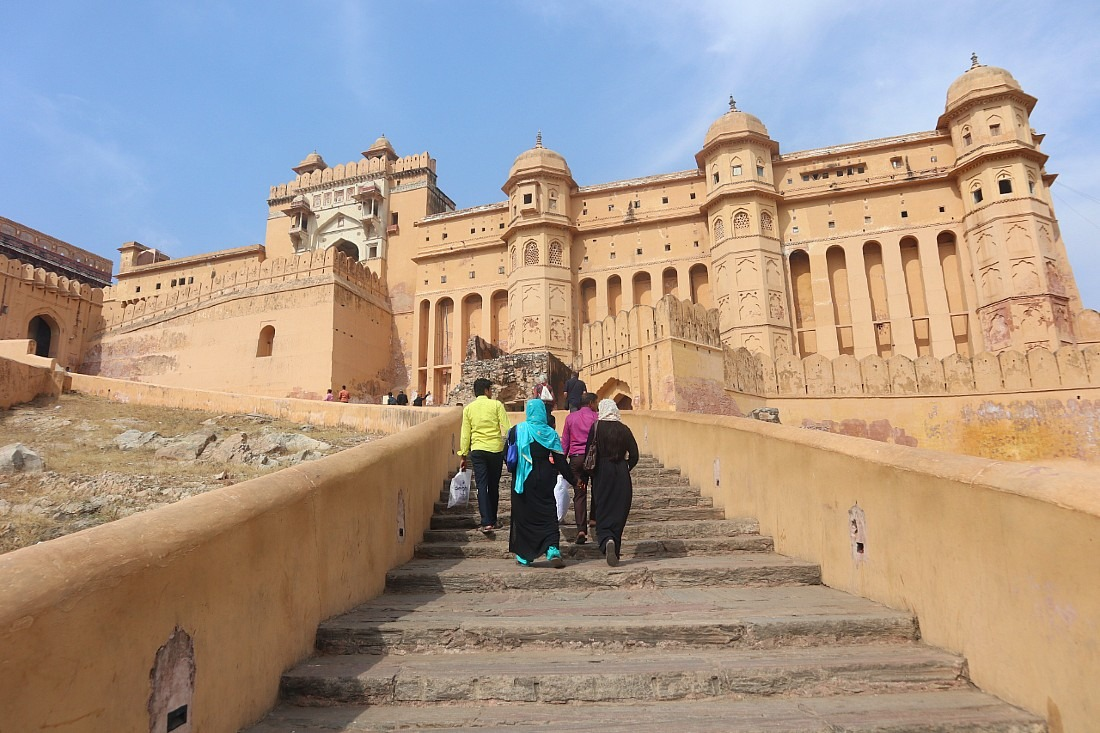 Amer Fort - one of the most famous forts in Rajasthan