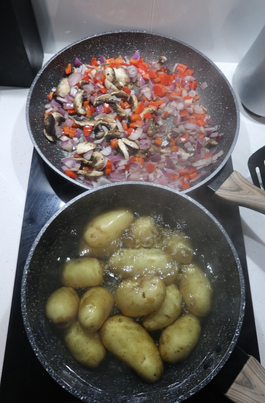 Starting to make the Italian gnocchi