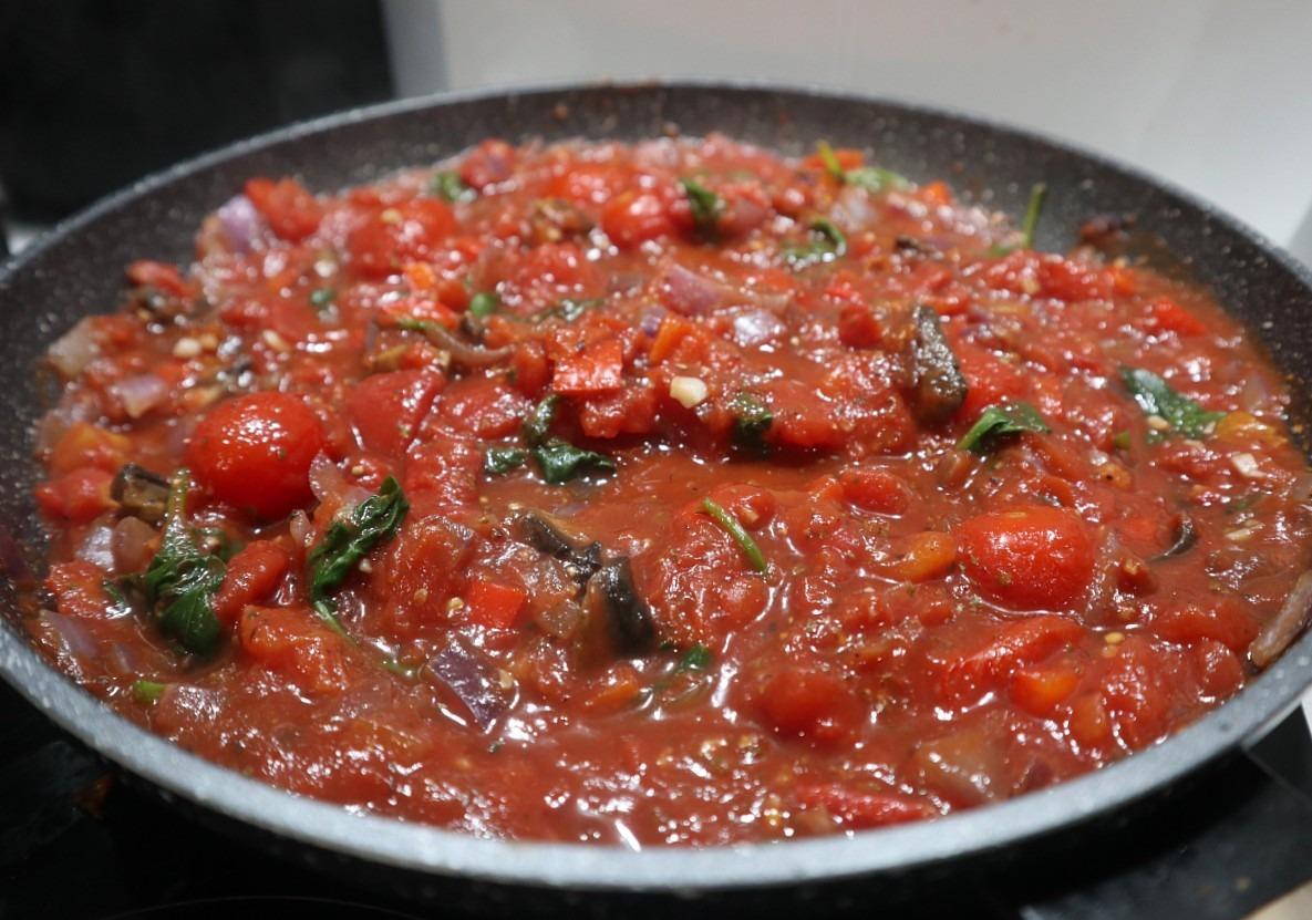 Making the gnocchi sauce