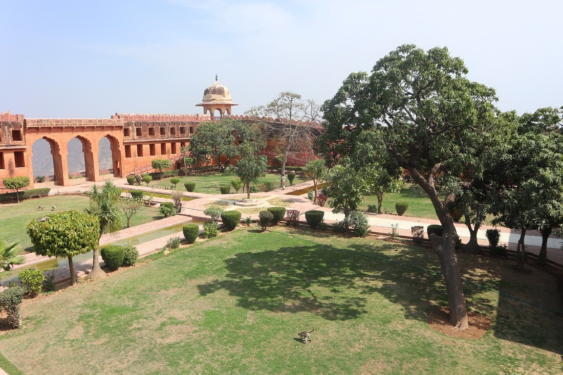 Courtyard garden at Jaigarh - a Rajasthan Fort