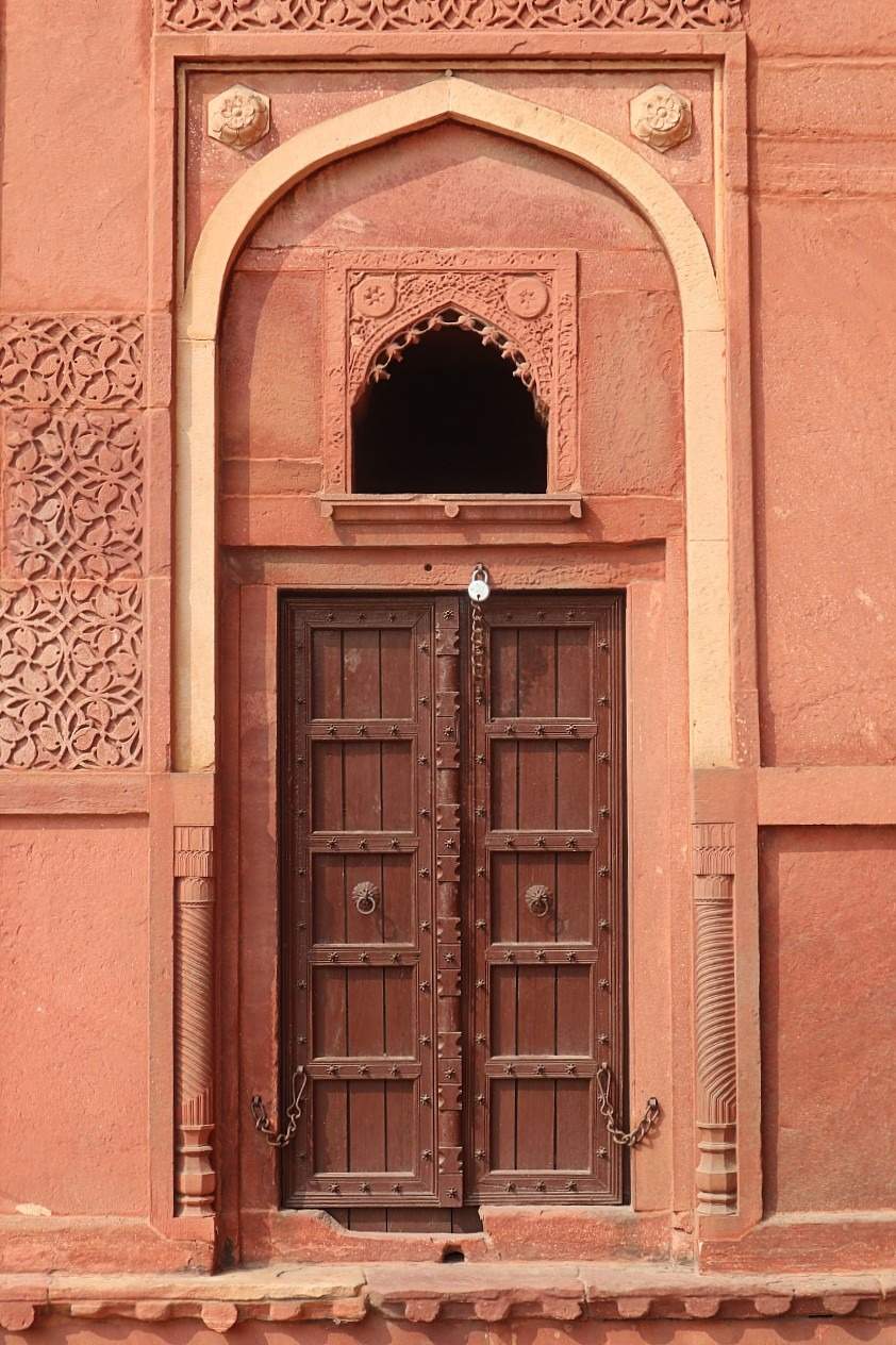 Beautiful door at Agra Fort