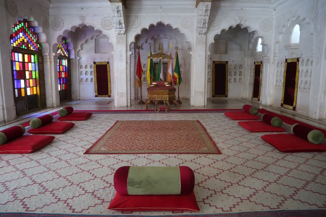The Mehrangarh palace and museum showcases the heritage of Rajasthan