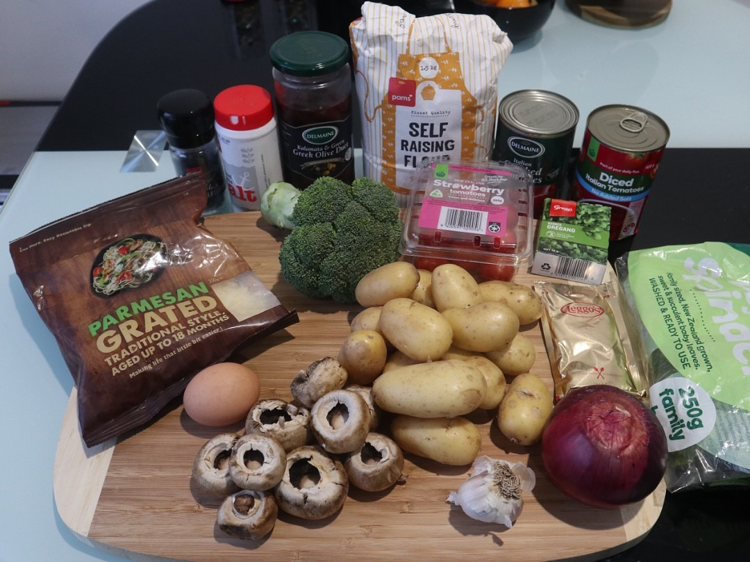 Ingredients for my Italian Gnocchi recipe