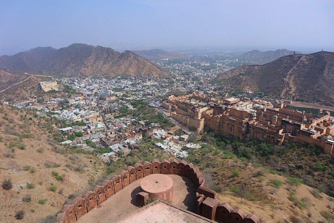 Views from Jaigarh Fort - the best fort in Jaipur