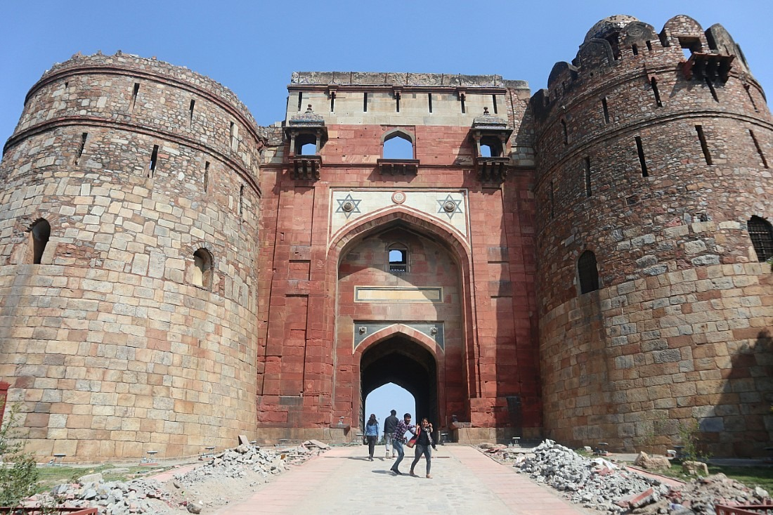Entrance gate to Purana Qila in Delhi