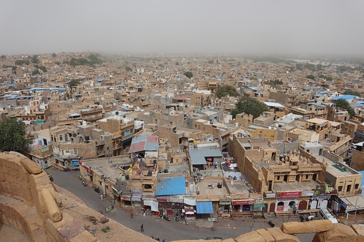 View from Jaisalmer Fort - a living fort in India