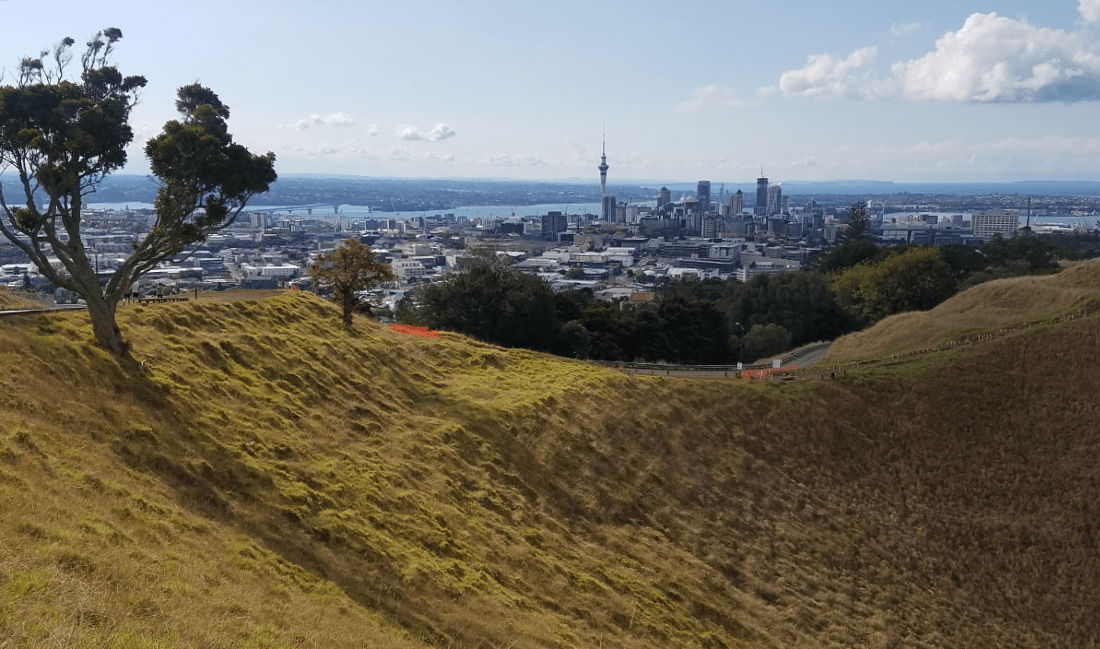 View from Mount Eden in Auckland