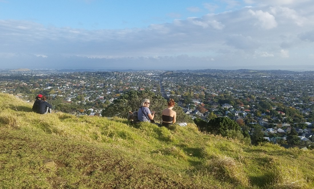 View from Mount Eden in Auckland during lockdown