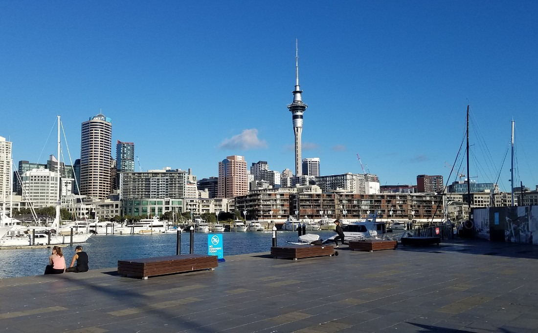 Wynyard Quarter in Auckland during the lockdown