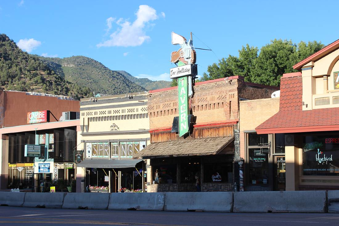 Glenwood Springs downtown in Colorado
