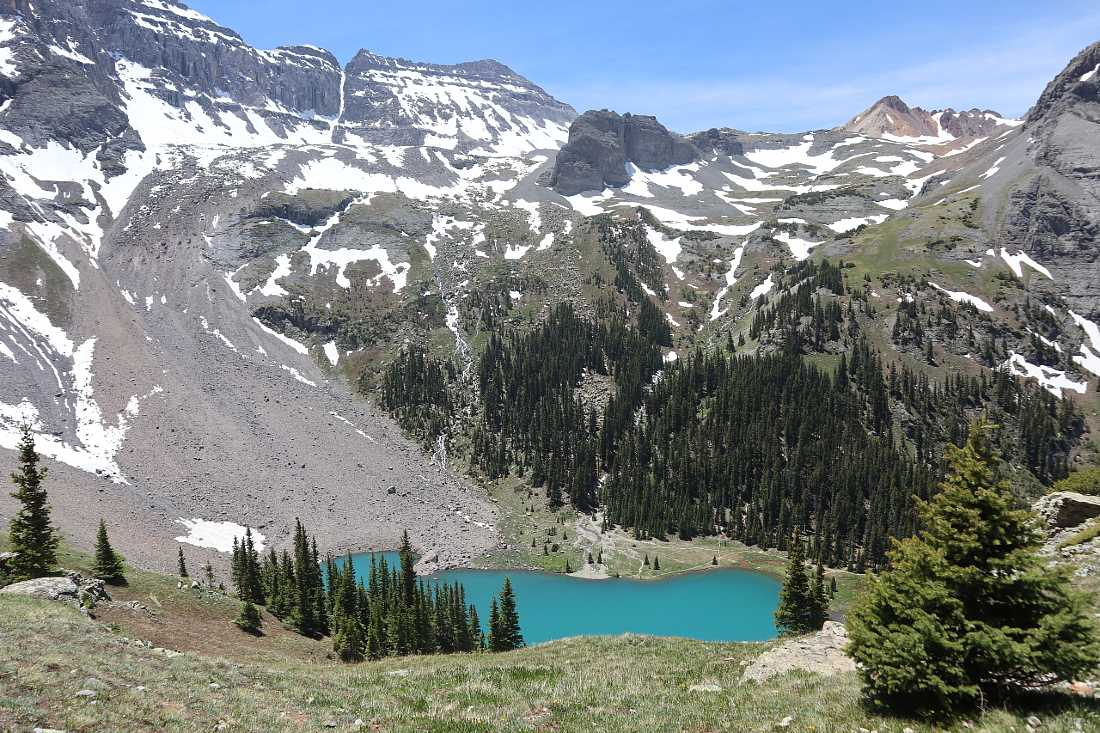 Hike to Blue Lakes near Ouray, Colorado