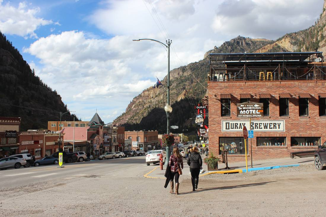 Ouray downtown in Colorado
